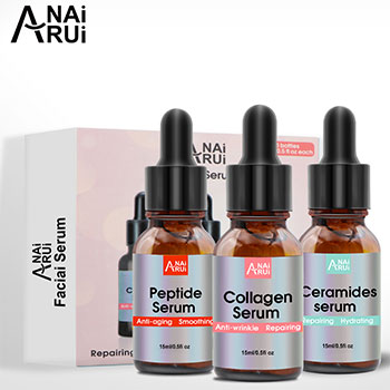 OEM Face Serum Collagen Peptide and Ceramide Facial Serum for Dry Skin