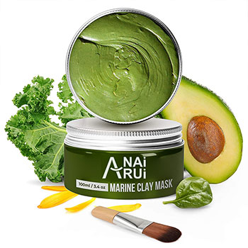 Private Label 100% Vegan Dead Sea Mud Mask With Organic Natural Fruit Avocado Deep Cleaning Face Clay